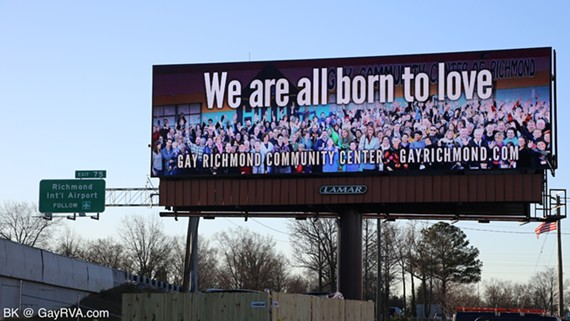 The Gay Community Center of Richmond (GCCR) has released this digital billboard in response to a controversial billboard from PFOX (Parents and Friends of ex-gays). - BK AT GAYRVA