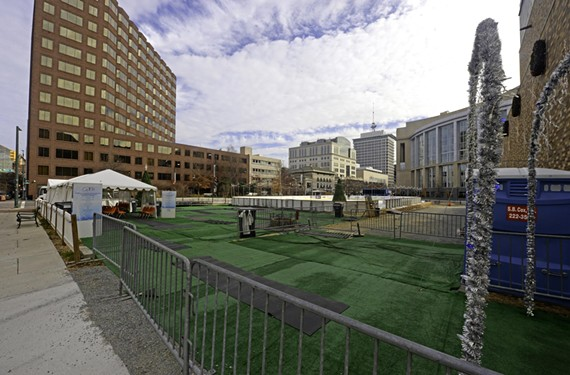 The installation of an ice rink in the 600 block of East Broad is a seasonal reminder of this yet-to-be-developed but prominent void in the downtown cityscape.