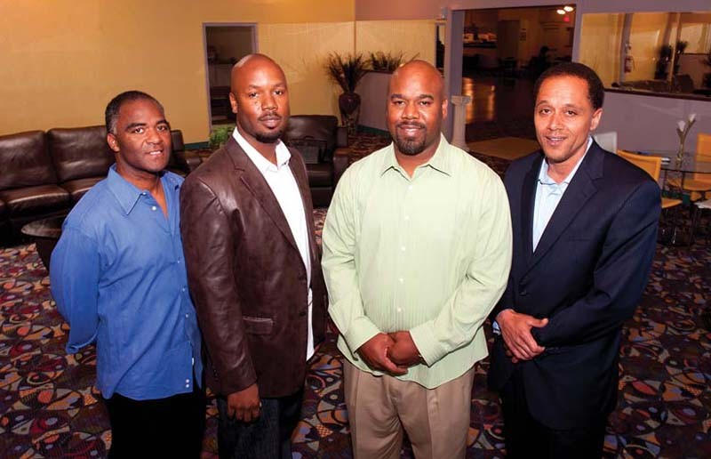 The men behind Club Aristotle — Kevin Price, Kevin Kemp, Bill Kemp and Illya Davis — want to bring good times and job training to south Richmond. - SCOTT ELMQUIST