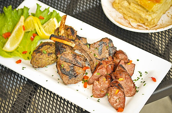 The mixed grill appetizer at the Omega Grecian Grill is among one of the restaurant's standouts.