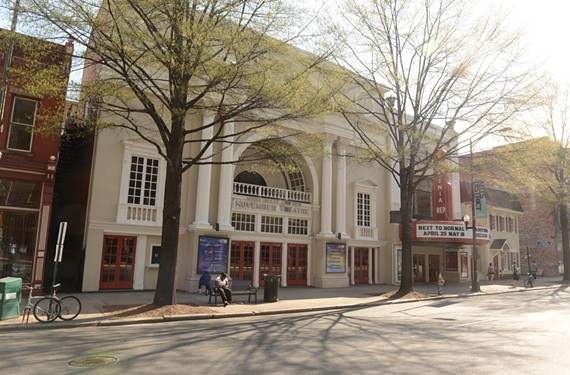 The neoclassical facade of the Claude K. Howell-designed theater at 118 W. Broad was recaptured by Commonwealth Architects for Virginia Rep. - SCOTT ELMQUIST