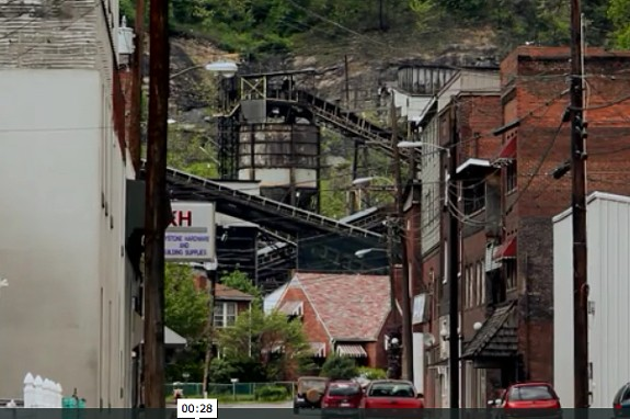 """The new film """"Blood on the Mountain"""" examines West Virginia's coal industry, especially Massey Energy, which is based in Richmond."""