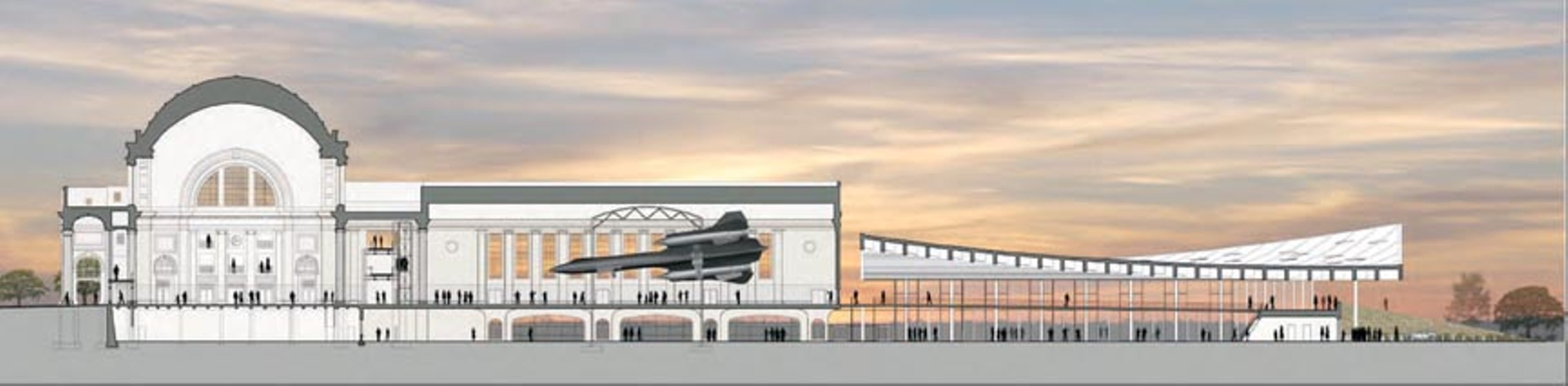 "The new ""Speed"" exhibit at the Science Museum, featuring an SR-71 military jet, is expected to open in late 2014. An adjoining events pavilion remains in the design phase. - SCIENCE MUSEUM OF VIRGINIA"