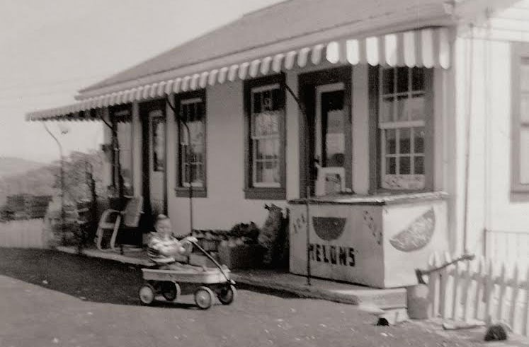 The original Layne's Country Store in the 1950s. Michael Layne's brother, Buster, is in the wagon. - COURTESY MARGARET BUCHANAN
