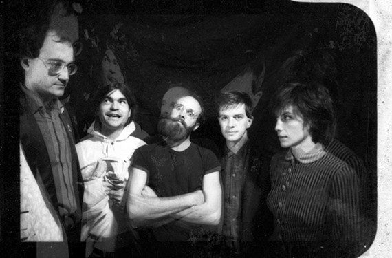 The Orthotonics in 1981: From left, Phil Trumbo, Danny Finney, Pippin Barnett, Paul Watson and Rebby Sharp.