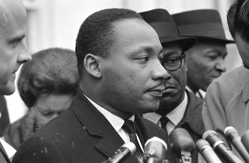 The Rev. Martin Luther King Jr., pictured in Washington, D.C., officiated at a banquet at the Hotel John Marshall during a convention of the Southern Christian Leadership Conference in September 1963. - LIBRARY OF CONGRESS