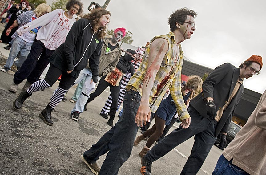 The Richmond Zombie Walk invades Carytown. - ASH DANIEL