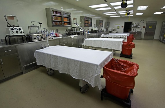 The roughly 300 cadavers donated to science in Virginia each year are embalmed in the program's preparation laboratory. The State Anatomical Program, established in 1919, is north of the convention center at 400 E. Jackson St. - SCOTT ELMQUIST