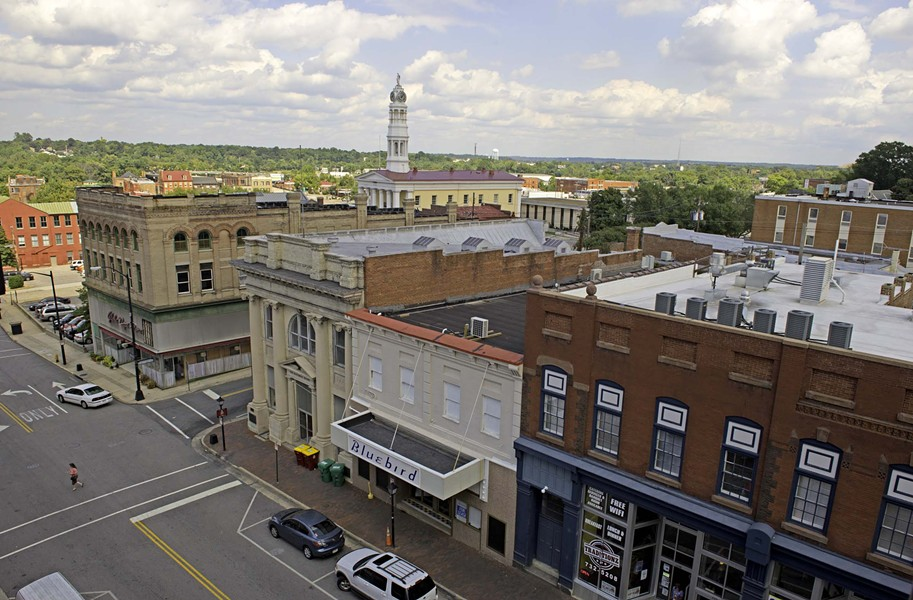The skyline and Sycamore Street are epicenter of the cultural revival. - SCOTT ELMQUIST