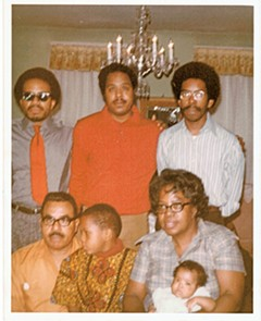 The Smith family at home in the early 1970s. Standing at top are Lonnie Liston Smith Jr., Ray Smith and Donald Smith. Below, from left, are Lonnie Liston Smith Sr., Ray Smith Jr. (Ray's son), mother Elizabeth Smith and Donald's daughter Yaisa. - COURTESY OF THE SMITH FAMILY