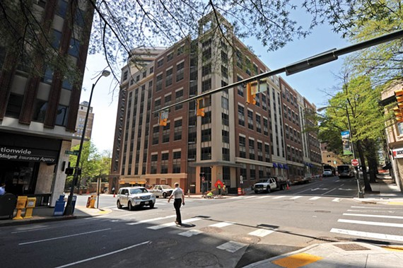 The state's new parking deck, bounded by Franklin, Sixth and Seventh streets, is that rare example of an unfortunate urban necessity — the car park — blending in nicely with the  surroundings. - SCOTT ELMQUIST