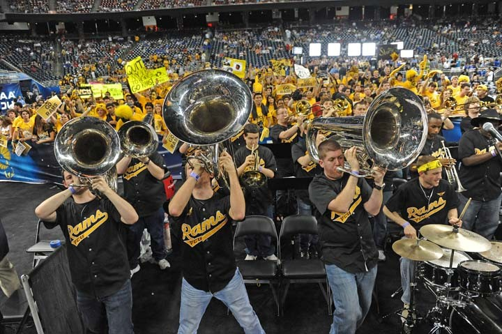 The VCU pep band, the Peppas, becomes the life of Houston during the Final Four Run. - SCOTT ELMQUIST