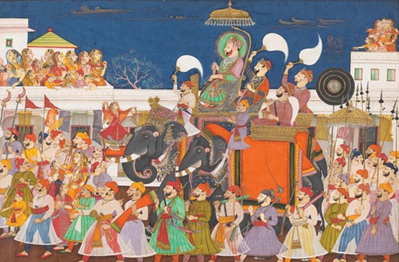"""The Virginia Museum of Fine Arts is the only East Coast venue to feature the stunning traveling exhibit, """"The Maharaja: the Splendor of India's Royal Courts."""" On display are fascinating examples of Indian art and jewelry, from paintings such as """"Procession of Ram Singh II of Kota"""" to functional objects like the mid-18th century turban ornament pictured below. - PHOTOS COURTESY OF THE VIRGINIA MUSEM OF FINE ARTS"""