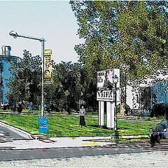 The Virginia Museum of Fine Arts plans to install an electronic sign along the Boulevard, pictured here in a watercolor rendering, but neighbors aren't happy about it.
