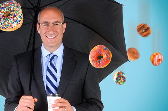 Three 2015 Best of Richmond winners: NBC-12 meteorologist Andrew Freiden, Sugar Shack Doughnuts and Lamplighter Coffee.