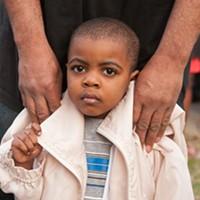 Scenes From the Vigil for Kiarri Edwards Three-year-old Lantay Johnson. Scott Elmquist