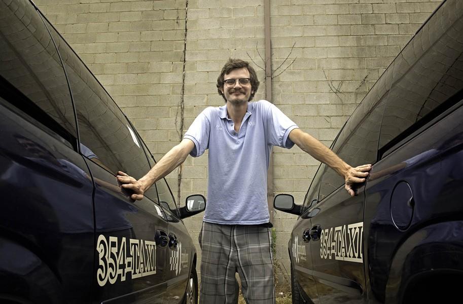 Tom Berck has driven Napoleon cabs since 2010. - SCOTT ELMQUIST