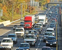 Traffic backs up on Interstate 95 because of two Monday morning accidents. In a 2005 report, the Richmond metropolitan area ranked ninth worst in the nation for vehicle carbon emissions per person. Your share? 1.34 tons per year.