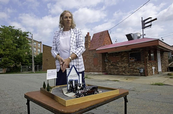 Transgender woman Ellen Shaver maintains cars, does movie prop work and builds models featuring Richmond's unique filling station history, which she feels is often overlooked.