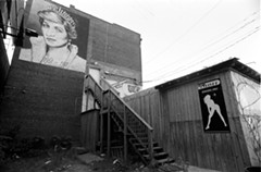 Trask painted a mural of Princess Diana on the side of this Shockoe Bottom strip club shortly after her death.