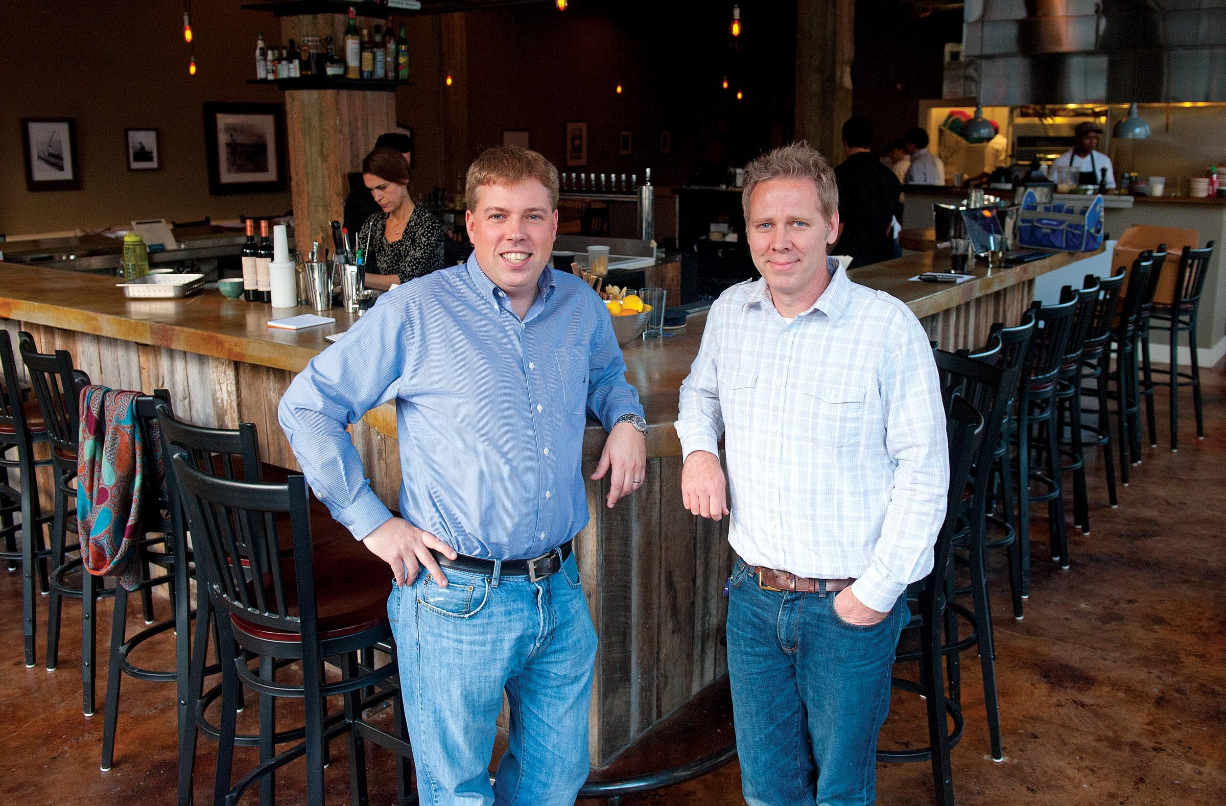 Travis and Ryan Croxton opened Rappahannock this month and got an immediate series of full houses for their oyster-oriented restaurant and bar downtown. - SCOTT ELMQUIST