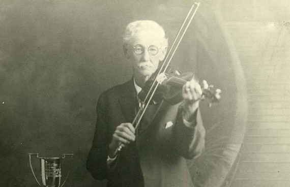 Trophy-winning fiddler Charles Perkins, circa 1920's. - GREGG KIMBALL/LIBRARY OF VIRGINIA
