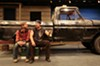 "Two guys and a truck: Roy (Matthew Mitchell) and Jim (David Bridgewater) talk man-to-man in ""Nice People Dancing to Good Country Music."""