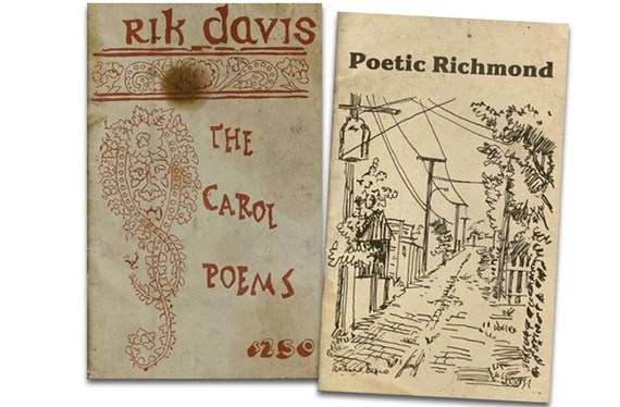 Two of Davis' poetry collections: The Carol Poems (Daltus, 1972); Anthology Poetic Richmond (Roger Coffey,1983).