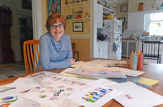 Janet Scagnelli, who now lives in Richmond, did the show's ink and color work. - SCOTT ELMQUIST