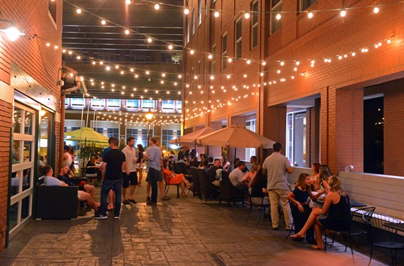 One of the largest patios in Richmond, at Southern Railway Taphouse at the Turning Basin, fills up quickly. - SCOTT ELMQUIST