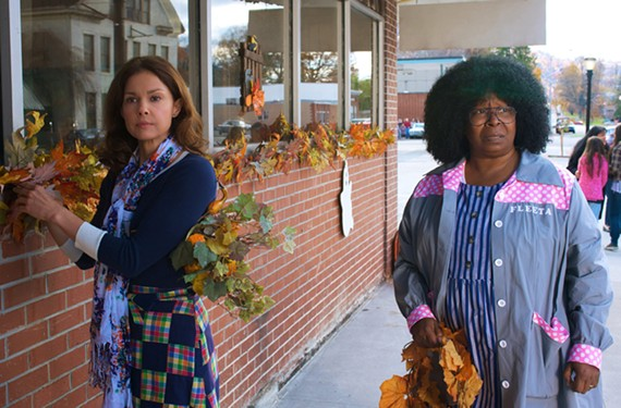 "Ashley Judd and Whoopi Goldberg in a fright wig in Virginia author Adriana Trigiani's ""Big Stone Gap."""