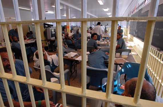 Overflowing conditions created makeshift spaces at the old Richmond City Jail, where VCU English professor David Coogan taught a six-week course on writing. - SCOTT ELMQUIST