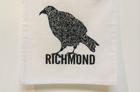 Raven Richmond neighborhoods pillowcase ($15) from Studio Two Three.