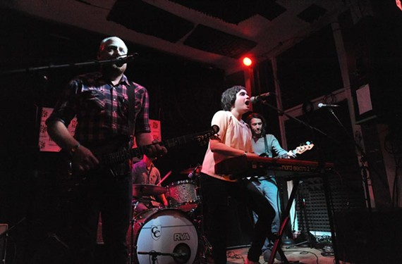 Richmond solo artist Anousheh, center, performs at the Hippodrome backed by her band at the inaugural Fall Line Festival in 2013. - SCOTT ELMQUIST