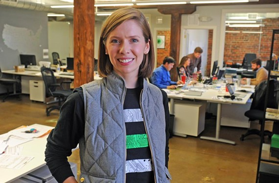 Rebecca Hough, 29, built her startup into a global presence. - SCOTT ELMQUIST