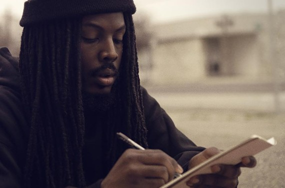 "Street poet Donte Clark is in the documentary ""Romeo Is Bleeding."""