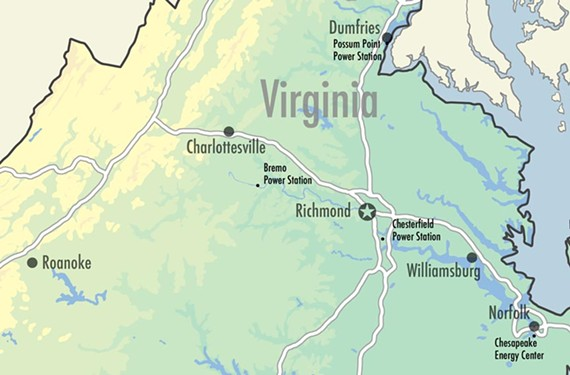 There are 11 coal ash ponds at these four Virginia plants.