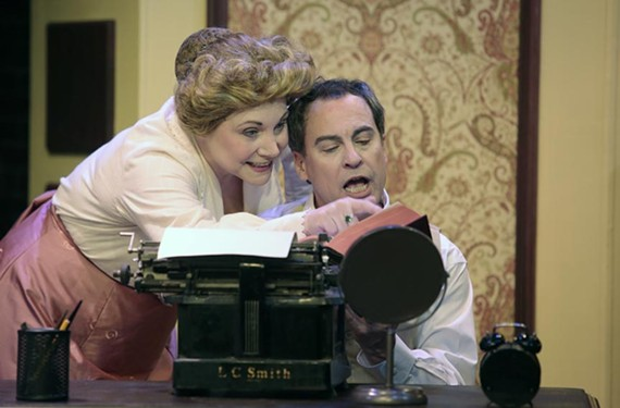 Agnes and Michael Snow are played by real-life married couple Lauren Leinhaas-Cook and Larry Cook.