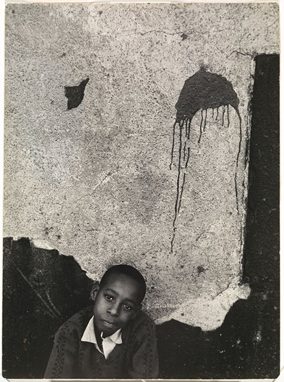 Louis Draper (American, 1935-2002) Boy with Paint Splatter, undated, gelatin silver print. Virginia Museum of Fine Arts, Arthur and Margaret Glasgow Endowment.
