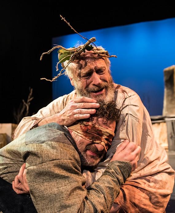 Joe Pabst as Gloucester and Joe Inscoe as King Lear.