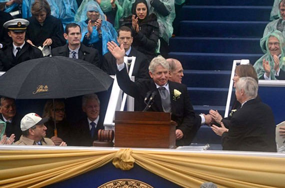 After his inauguration on the steps of the State Capitol in 2014, Herring was quick to move on same-sex marriage. - SCOTT ELMQUIST