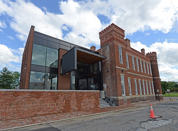 The back view of the newly renovated Black History Museum, which is holding a grand opening party tonight, May 5.