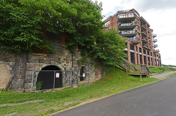 The old Yuengling beer caves face the Capital Trail. - SCOTT ELMQUIST