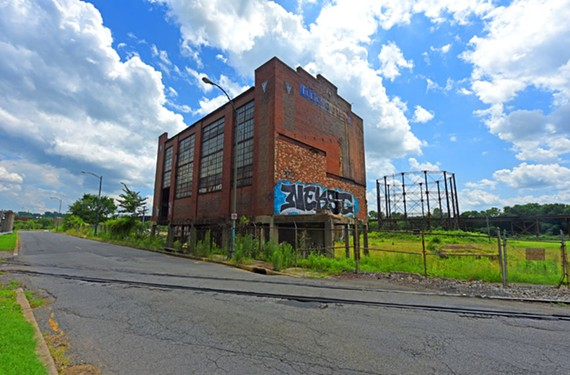 Vacant for 44 years, the Fulton Gas Works is a collection of brick and metal industrial structures. - SCOTT ELMQUIST