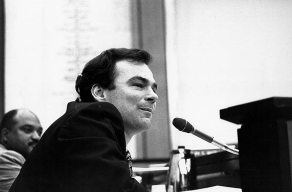 A youthful Kaine as a Richmond City Council member in September 1997. - STEPHEN SALPUKAS