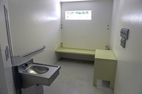 A cell at the Richmond City Justice Center, where people arrested and awaiting trial might be held if they can't meet bail. - SCOTT ELMQUIST