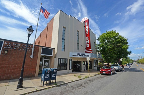 The old East End Theater building on North 25th Street has been transformed into Liberty Public House, with apartments above. - SCOTT ELMQUIST