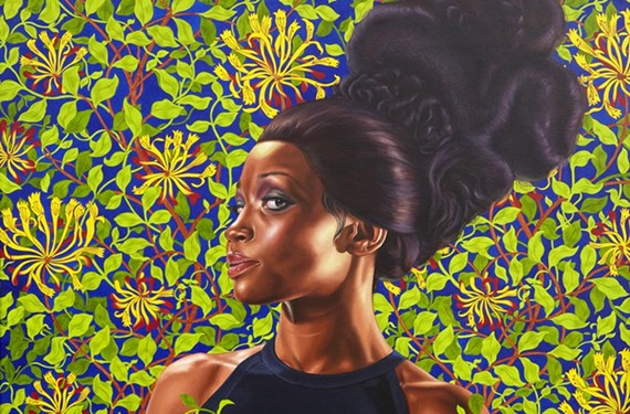 "There's still a few more weeks to see the VMFA's popular mid-career retrospective of New York artist Kehinde Wiley. Pictured here is ""Shantavia Beale II, 2012."" - VIRGINIA MUSEUM OF FINE ARTS"