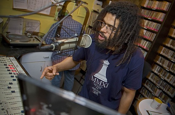 Rapper and DJ Black Liquid is one of the foremost advocates for local hip-hop through his FM radio shows on both WRIR 97.3 and WDCE 90.1. - ASH DANIEL