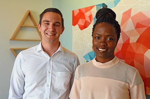 A VCU graduate, Luke Buckovich took over as UnBound RVA's executive director this year. Melody Joy Short works as its small business director. - SCOTT ELMQUIST